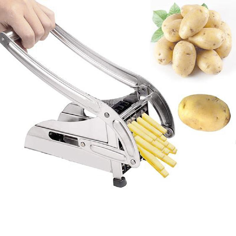 Steel Stainless Potato Chipper French Slicer Fries Chip Cutter Vegetable Chopper 36 Hole 64 Hole 3x3