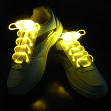 1 Pair Light up LED Luminous Shoelaces Athletic Sport Flat Shoes Laces for Boys Girl Fashion Luminous Shoe Strings(China)