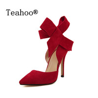 PLUS Size High Heels Red Bottom Shoes Pumps Black Nude Sexy Women Ladies Party Shoes Woman