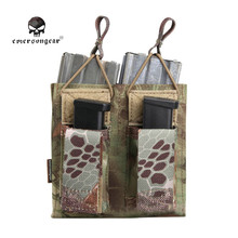 Emerson Tactical Molle Double 5.56 & Pistol Mag Magazine Pouch Flashlight Knife Ammo Cartridge Clip Holster Belt Holder EM6362
