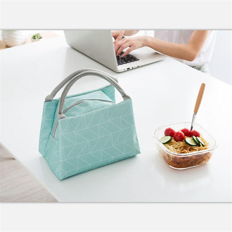 Mrosaa Oxford Thermal Lunch Box Bags Insulated Cooler Box Tote Portable Picnic Storage Container For Kids School