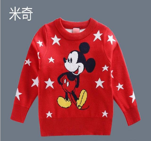 73b02ba3f 2019 Autumn SpringChildren s cartoon mouse Knitted Sweaters Kids ...