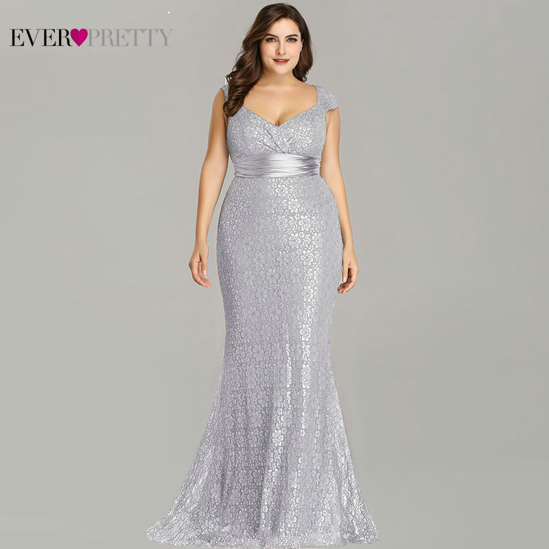 b1f790de0d103 Plus Size Evening Dresses 2019 Ever Pretty EP08798CF Elegant Mermaid Lace  Sleeveless Party Gowns Vintage Sexy Robe De Soiree-in Evening Dresses from  ...