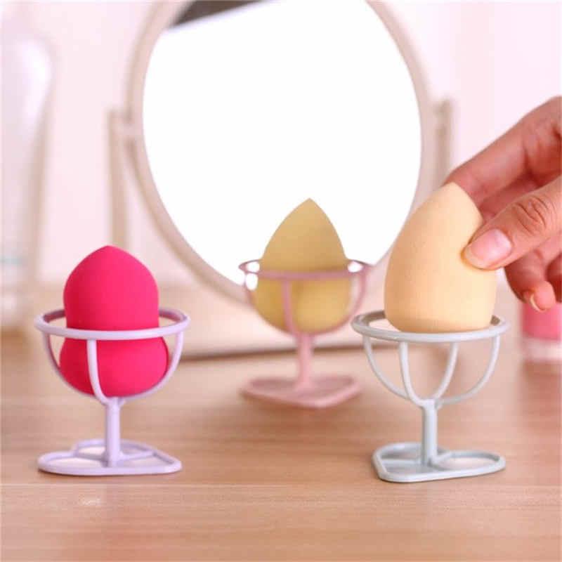 Ukuran Portable Makeup Sponge Pemegang Kecil Ukuran Stabil Kecantikan Kosmetik Puff Rak Rak Pengeringan Membuat Penyimpanan Alat