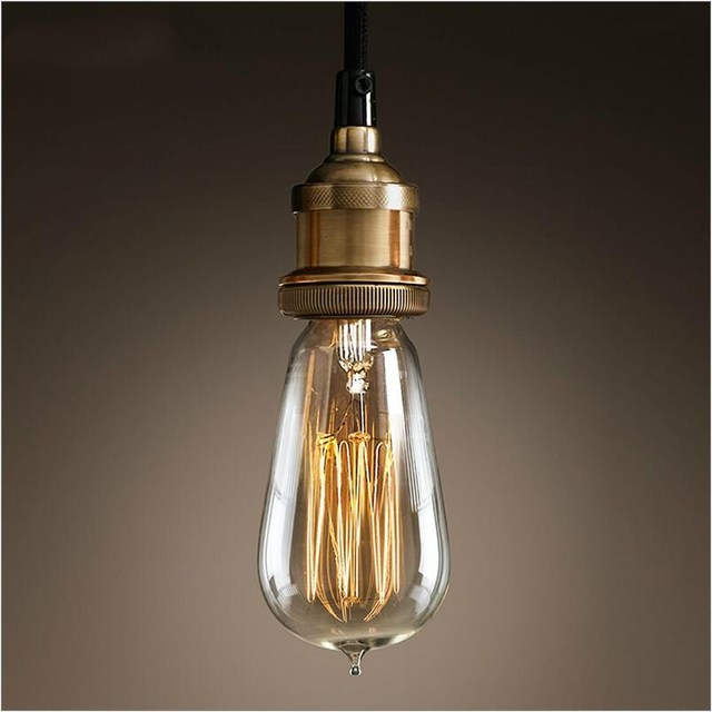 Vintage country brass color e27 socket cord cable pendant lights vintage country brass color e27 socket cord cable pendant lights pendant lamps diy hanging lamp restaurant aloadofball Gallery