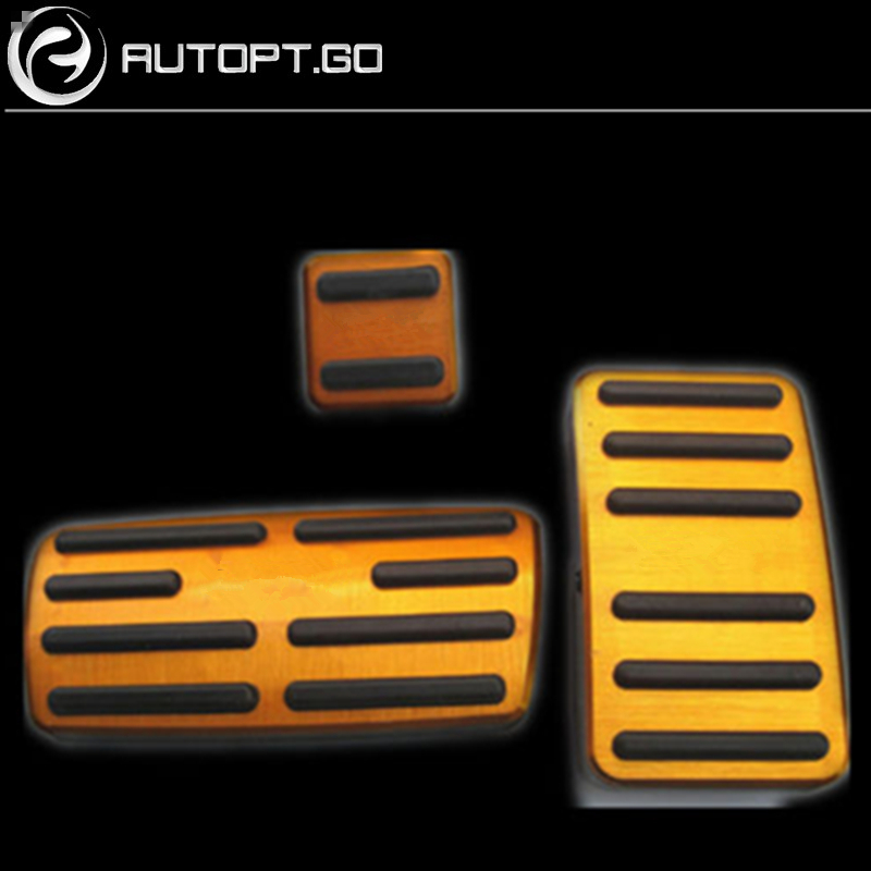 Couvercle de protection de pédale de frein à gaz/accélérateur automatique antidérapant en or pour pédales Honda CRV 2015-2016
