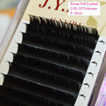All Size Individual Fake Mink Silk Eye Lashes Extention Black Wholesale 200trays