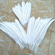 Wholesale High Quality Pack of 68pcs Scarce White Natural Eagle  Feather 35-55cm/14-22inch Decorative Diy Collect