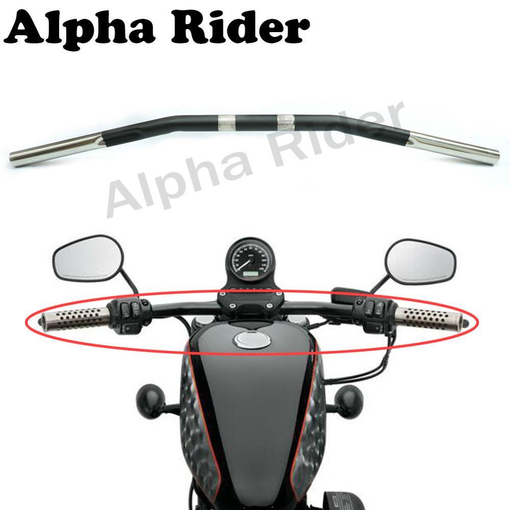1 25mm Retro Style Drag Bar Handlebars Curved for Harley Sportster XL50 Nightster XL 1200N Iron 883N 48 Seventy Two 1200V 1200X