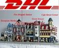 LEPIN Creadores 15002 Cafe Corner 15004 Estación de Bomberos 15007 Mercado Europeo 15008 Verdulería Blocks Set Kits de Ladrillos