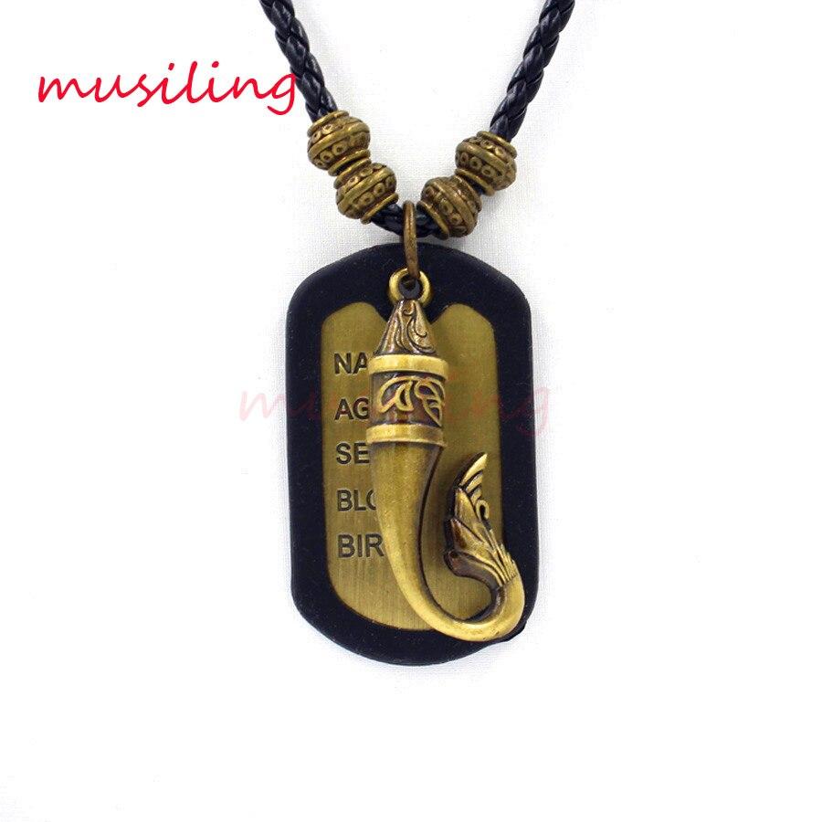 06331e0597e90 Alliage de cuivre Aladdin Lampe Magique En Cuir Collier Pendentif Charme Bijoux  de Haute Qualité En Métal Accessoires Reiki Amulette Bijoux 10 pcs