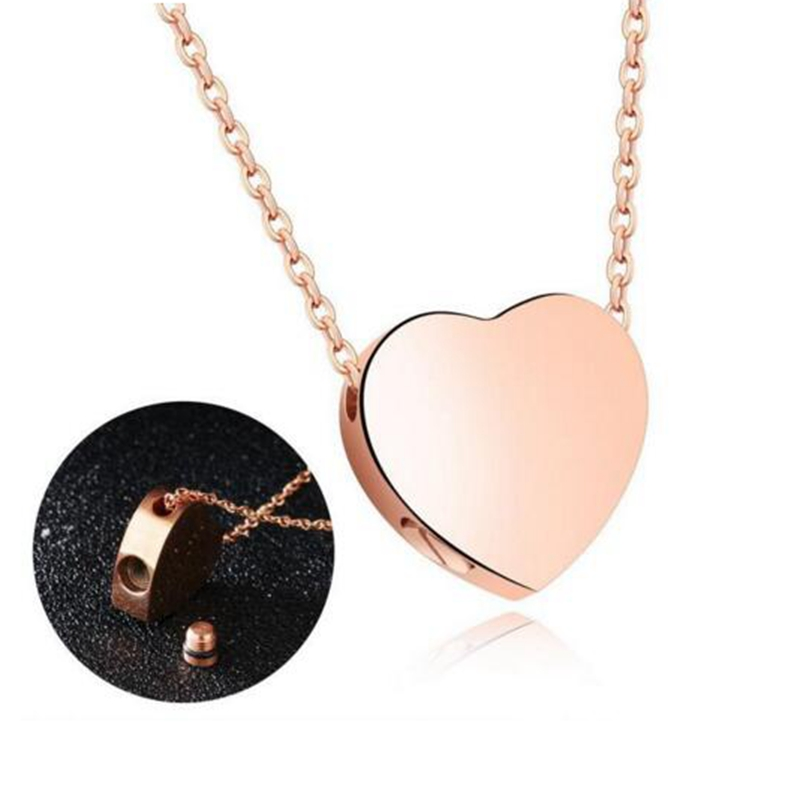 Ijd9573 New Funeral Keepsake Wholesale Or Retail Silver,gold,rose Gold Stainless Steel Rhombus Cremation Urn Necklace For Ashes Jewelry & Accessories Pendant Necklaces
