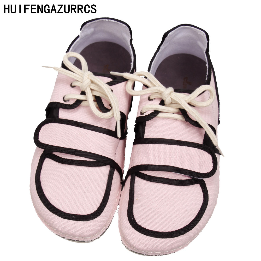 HUIFENGAZURRCS-New Spring/Summer,Women art college style round head shoes,Non-slip canvas flat shoes,Big head shoes,5 colors huifengazurrcs new 2018 head layer