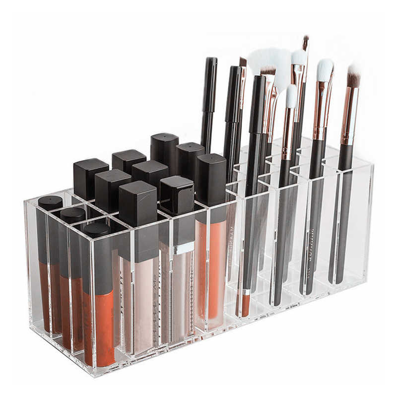 Acrylic Lip Gloss Holder 24 Slots Lipstick Box Display Stand Sundry Storage Box Cosmetic Makeup Organizer Holder Storage Case