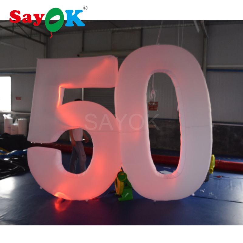 2 5mh Giant Inflatable Letters With Lights Inflatable