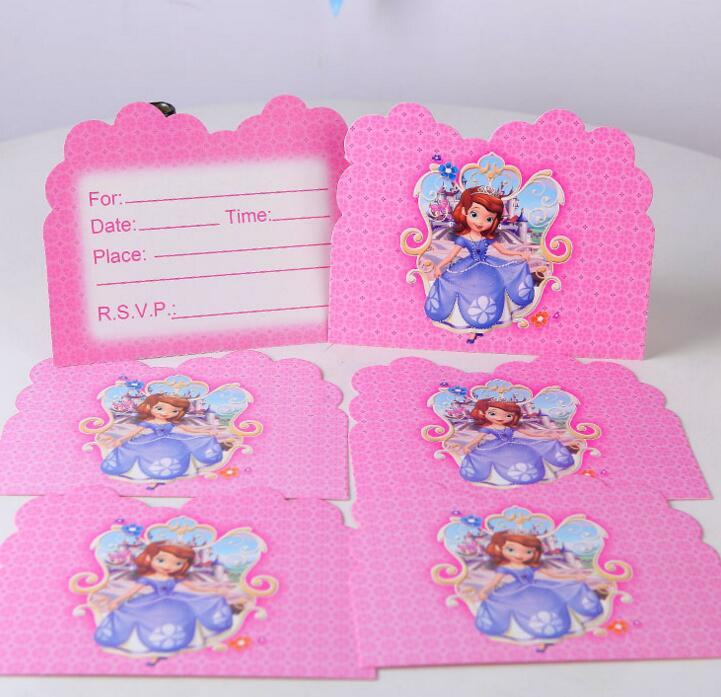 10pcs/lot baby shower sofia princess theme cartoon kids birthday ...