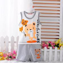 Cotton Vest Suit Housing Children Sleeveless Cartoon Sets New Fashion Baby Girl Baby Boy Clothes Suits Baby Girl Suit Clothing