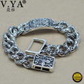 Cool Man 925 Sterling Silver Bracelet Classic Design Fashion Thai Silver Bracelets for Men Male Jewelry HYB010
