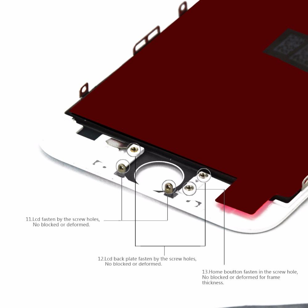 iphone LCD White Black 5