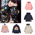 Panda Pattern Outwear Jacket Style 2016 Bobo Chose New Autumn Winter Trench Kids Coat Children Fall Baby Girls Boys Children
