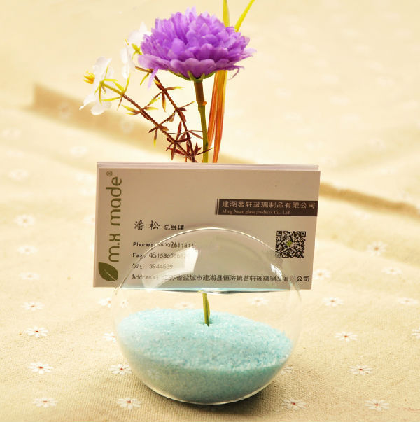 O Roselif Creative Office Business Card Holder Flower Glass Vase Birthday Party Decorations Kids