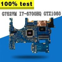 with GTX 1060M 6GB cpu I7 6700HQ G752VM laptop Motherboard for asus ROG G752 G752V G752VM G752VML G752VS Mianboard motherboard