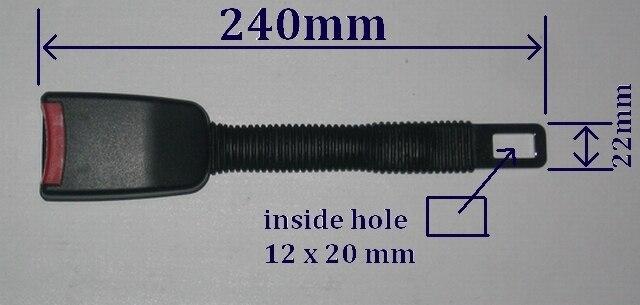 Ремень безопасности Extender Расширение Жесткой гибкой Ножке Для 22 мм (7/8 дюйма) Пряжки Добавить 240 мм