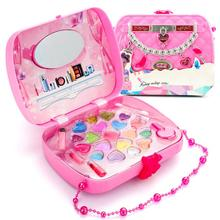 лучшая цена Make Up Toy Pretend Play Kid Makeup Set Safety Non-toxic Makeup Kit Toy for Girls Dressing Cosmetic Travel Box Girls Beauty Toy