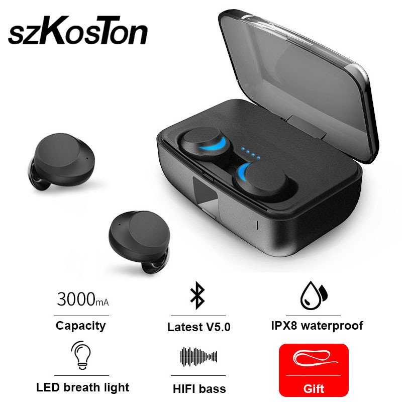 Earphone Bluetooth 5.0 Wireless Headset TWS Earphone With Mic Earbuds Sport Waterproof For iPhone Meizu Sony Xiaomi Gaming