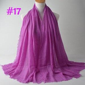 Image 2 - Crinkle Plain Wrinkle Wrap,bubble cotton muslim hijab,Soft Islam scarf,Viscose Maxi crinkle scarves,solid scarf,Head Hijab shawl