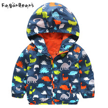 FagorBears Baby Boys Outerwear Coat Dinosaur Spring Kids Jacket Long Sleeve Children Clothes Boy Jacket Hooded Autumn Clothings
