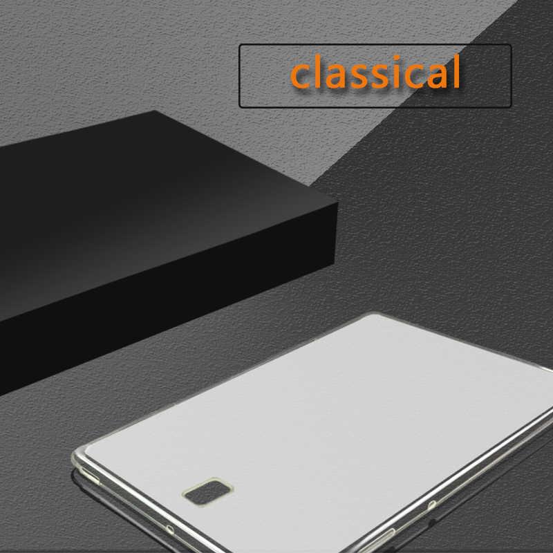 Silikon Case untuk Samsung Galaxy Tab S S2 Pro 8.0 8.4 10.5 SM T320 T700 T705 T800 T801 T715C T710 sangat Tipis Penutup TPU Tablet