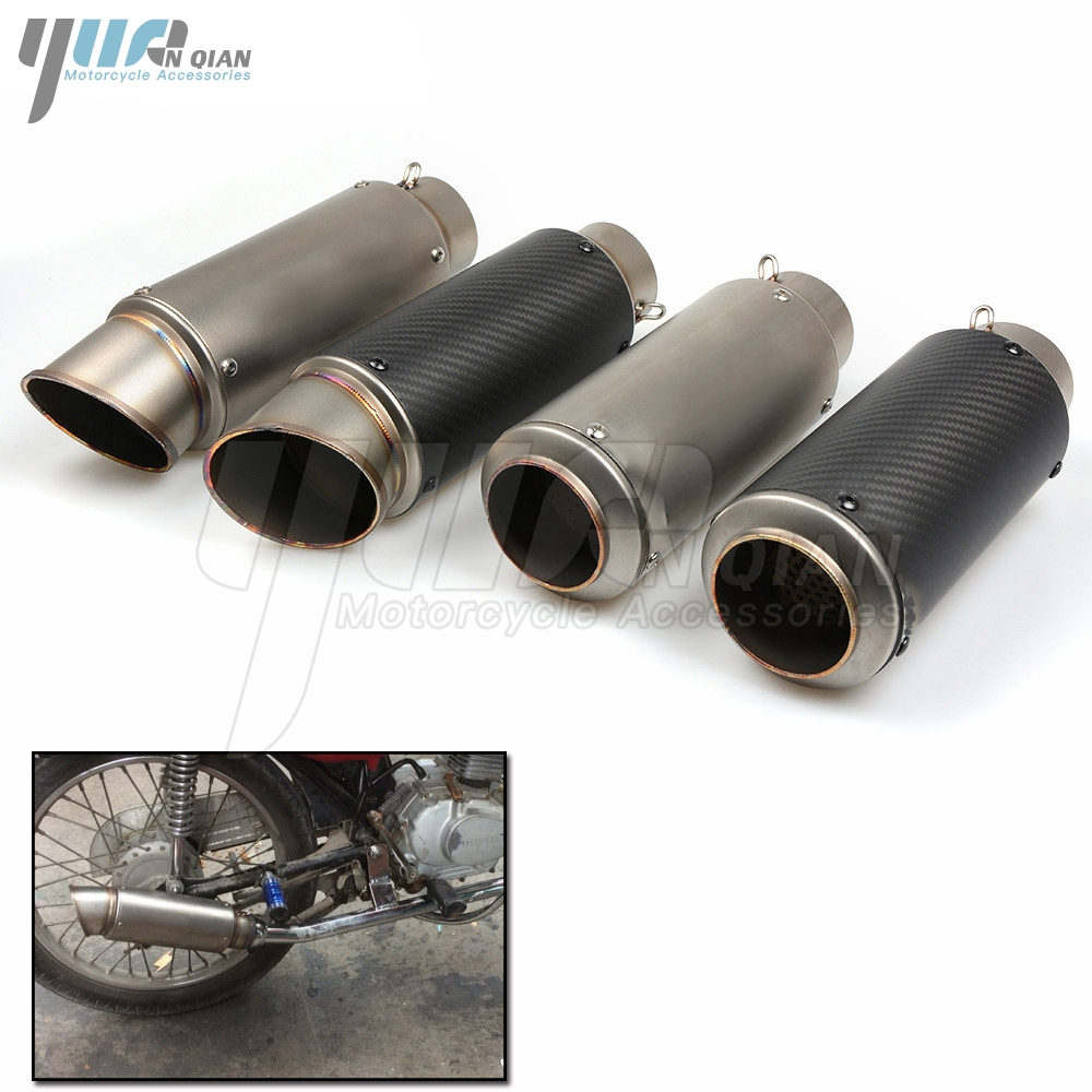 Motorcycle Exhaust Pipe Scooter Modified 51 61MM Exhaust Muffler Pipe For Honda CG125 MSX125 PCX125 MSX PCX CG 125 250 All Year for honda cbr250r cbr 250 r cbr 250r cbr300r motorcycle exhaust pipe scooter modified 60mm exhaust muffler pipe 51 61mm