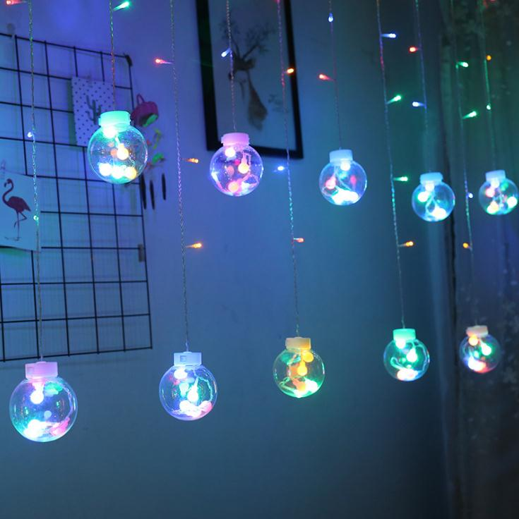 2.5m/138Led drifting bottle wishing bottle star LED curtain lamp wedding lantern ice bar lamp Festival Christmas background lamp