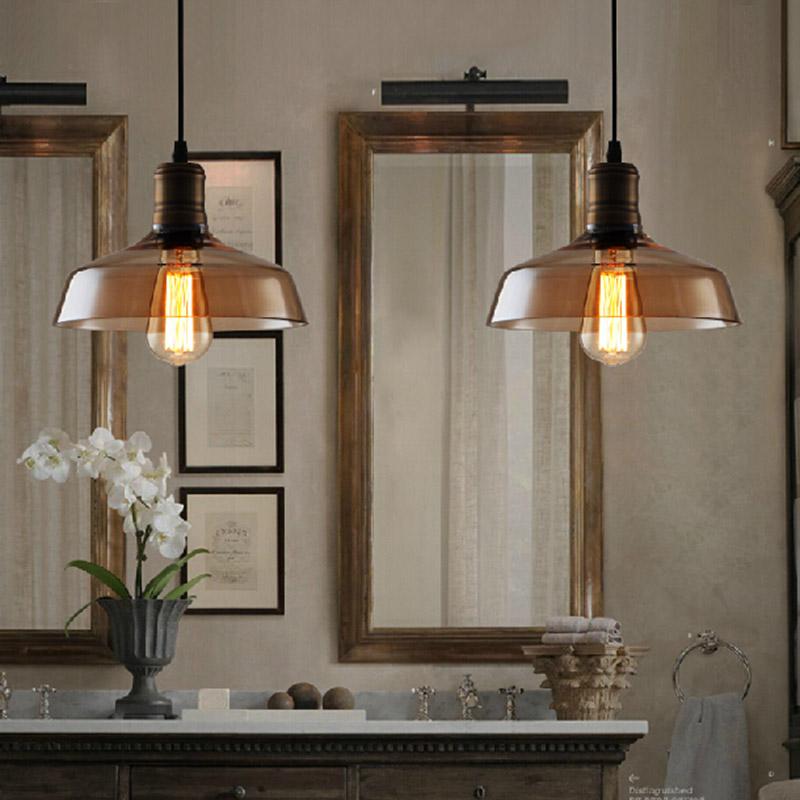 Loft Pendelleuchte Nordic Retro Edison Birne Licht Hngen Glas Vintage Antike Lampen E27 Lampara Industria