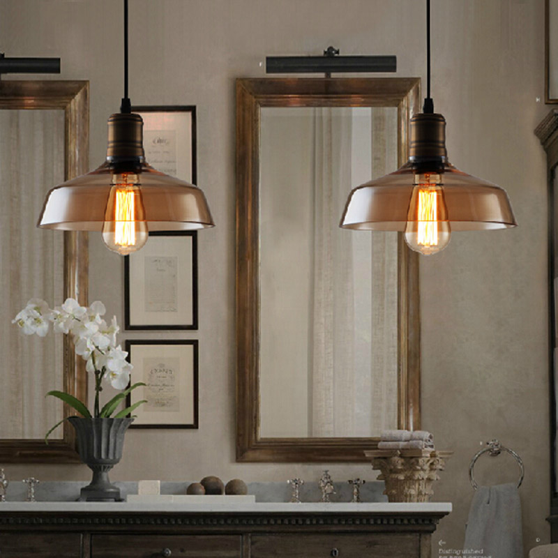 loft pendant lamp Nordic retro Edison Bulb Light hanging glass vintage lamps Antique E27 lampara industria Fixture Lighting loft antique retro spider chandelier art black diy e27 vintage adjustable edison bulb pendant lamp haning fixture lighting