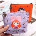 Korean Fashion  2015 Creative Purse Cartoon Lovely Girl Women Coin Purses  Coin Bag Key Wallets Canvas Gift Wallets Small Purse