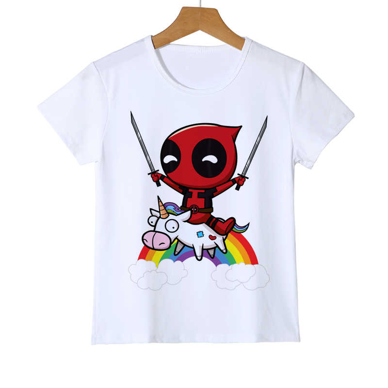 413b7771481 Detail Feedback Questions about Summer Fashion Kid T Shirt Funny Cute Deadpool  Minion Riding A Unicorn Rainbow Boy Girl Baby T Shirt Printed Tops Tees Y8  28 ...
