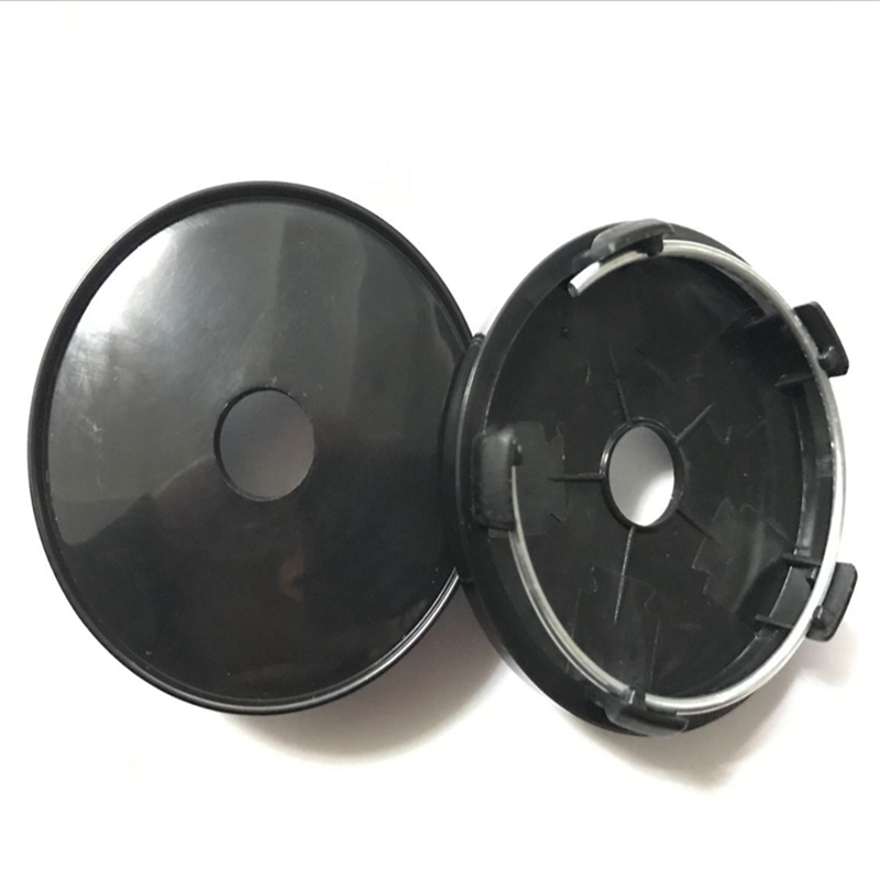KOM POWER Blank 60mm Wheel Center Caps Hub Cap No Emblem Wheel Covers No logo Black Color & Chrome Color Without Car Brand