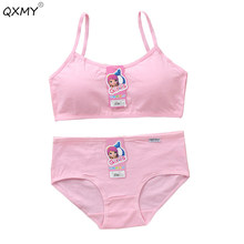 b2a39b981f7 teenager girls training bras teenager kids training bras+briefs underwear  set solid kids underwear free