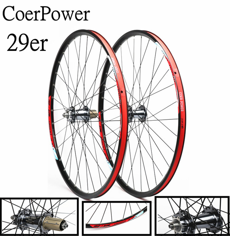 CoerPower 29 inch 2/5 bearing mountain bike bicycle wheel 120 sound Aluminum Alloy wheel set disc brake mtb wheels