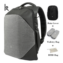 Kingsons Click Anti-thief Solid Backpacks Scientific Storage System Bags External USB Charging Laptop Backpack For Man And Women