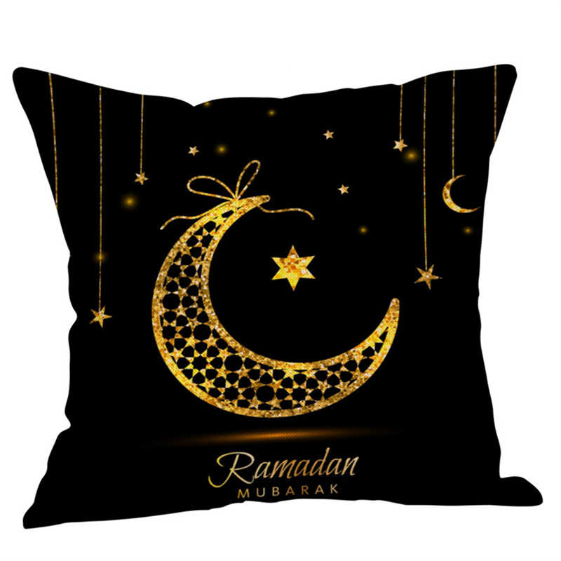 Image 3 - Eid Al Fitr Line Pillowcases Cover Super soft fabric Home  Letter Pattern Cushion Throw Bedding Pillow Case Pillow Covers-in Pillow Case from Home & Garden