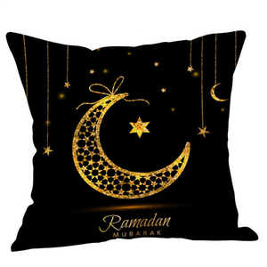 Image 3 - Eid Al Fitr Line Pillowcases Cover Super soft fabric Home  Letter Pattern Cushion Throw Bedding Pillow Case Pillow Covers