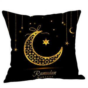 Image 3 - Eid Al Fitr Linha Carta Padrão Almofada Lance Fronhas Capa de tecido Super macio Casa Cama Fronha Travesseiro Cobre