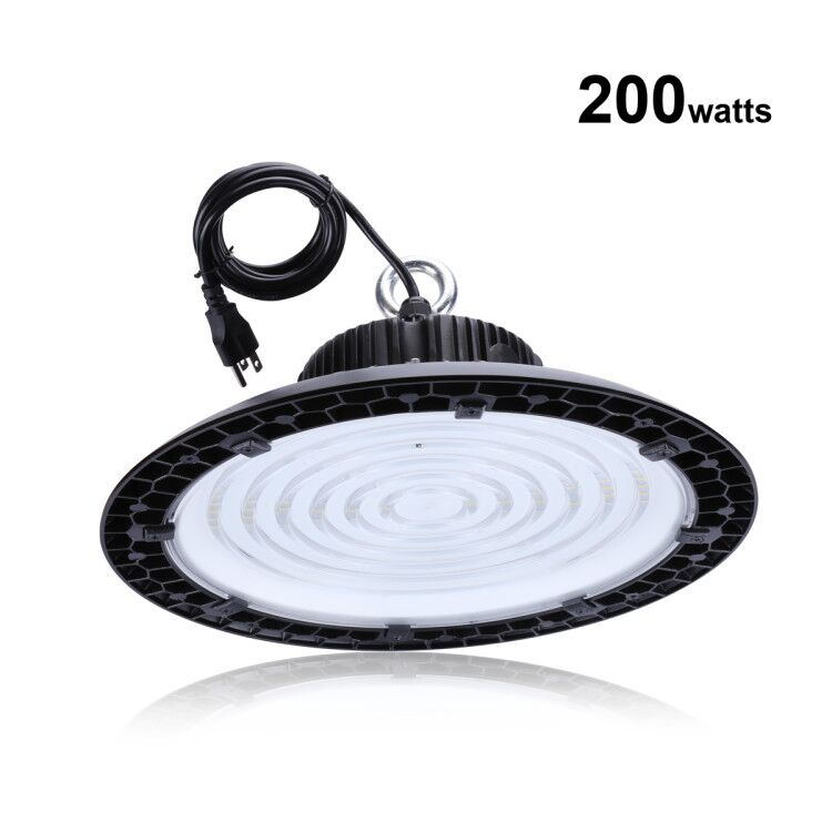 LED High Bay Lights Ultra-thin UFO 200W 150W 100W 5000K LED Shop Lights Outdoor Light Factory Warehouse Lighting, ETL Listed quick install 75w warehouse pendant led lighting with dlc listed