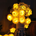 5M 20 LED Rose Indoor Outdoor String Light for Wedding Garden Party Christmas Festival Decor Lamp FULI
