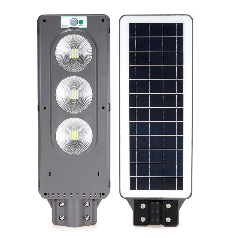 90W 120LED IP67 Solar Street Light Radar Sensing Security Lamp 2 In 1 Constantly Bright Induction Plaza Solar Wall Lamp|Street Lights| |  - title=