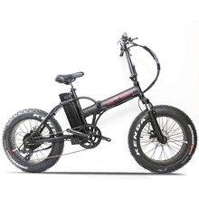 20 дюймов электрический велосипед с толстыми шинами, снежный велосипед 500 Вт, высокоскоростной мотор для электровелосипеда, 48 В, литий-ионный аккумулятор, 4,0, покрышки, складной Электрический горный велосипед