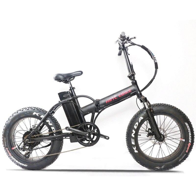 20 zoll elektrische fahrrad fett reifen schnee bike 500w high speed motor EBIKE 48V li-ion batterie 4,0 reifen falten elektrische mountainbike